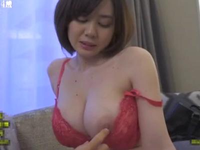 どこが気持ち良いですか?乳首を直接触られてるのに抵抗出来なくなる爆乳人妻のセクハラアンケートw